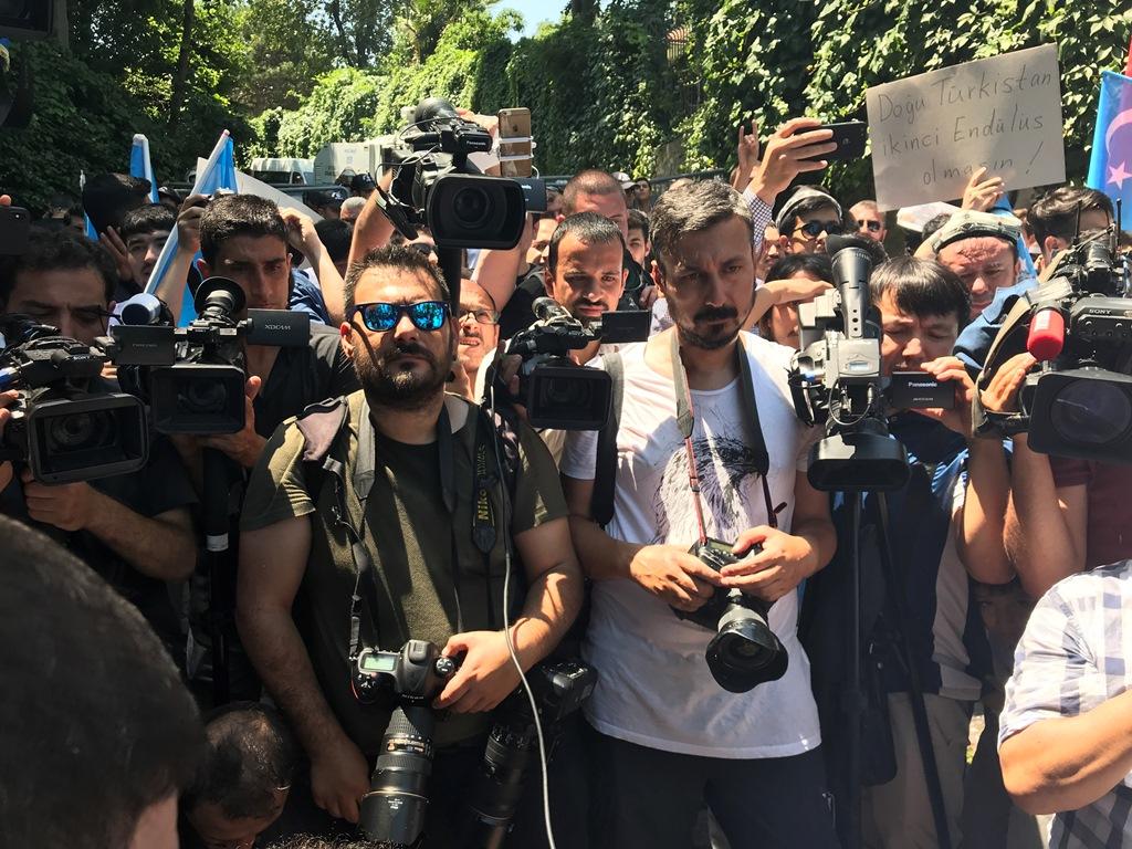 IMG_5371 9. yılında 5 Temmuz Urumçi Katliamı protesto ve basın açıklaması