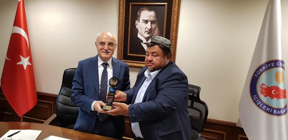38756602_682420768792229_7950757116627648512_n Doğu Türkistan STKlar birliği heyeti İçişler bakanını ziyaret etti