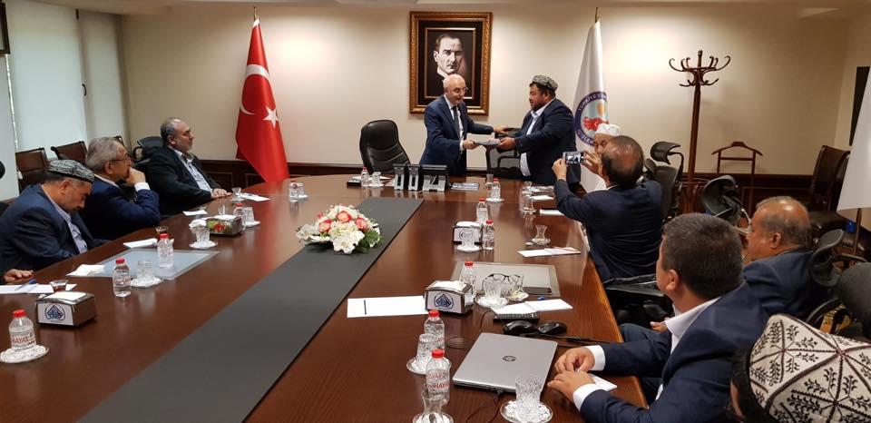 38880949_682420795458893_8994050427112652800_n Doğu Türkistan STKlar birliği heyeti İçişler bakanını ziyaret etti
