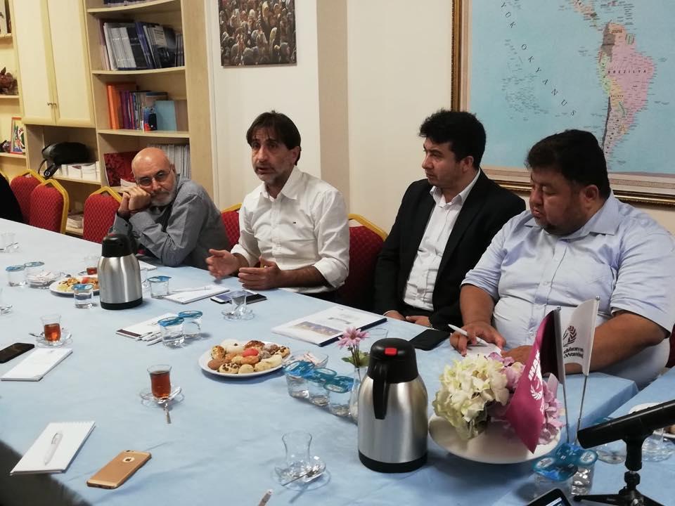 42294072_715083655525940_7480862306893561856_n Genel Başkanımız Hidayet Oğuzhan İstişare toplantıda Doğu Türkistan meselesini anlattı