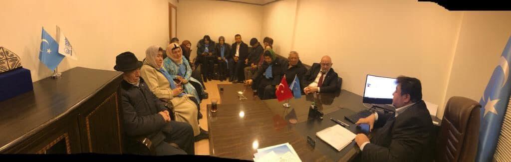 48418163_765837190450586_4888984367075950592_o-1024x325 Kırgızistan Uygur İttifak Cemiyeti Heyeti Doğu Türkistan Maarif Cemiyetine ziyarete geldi