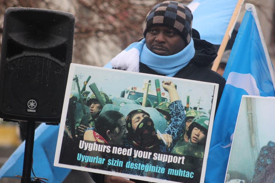 52940766_2127682230600119_1889442738705793024_n Çin'in Doğu Türkistan'daki Zulmü İstanbul'da Protesto Edildi