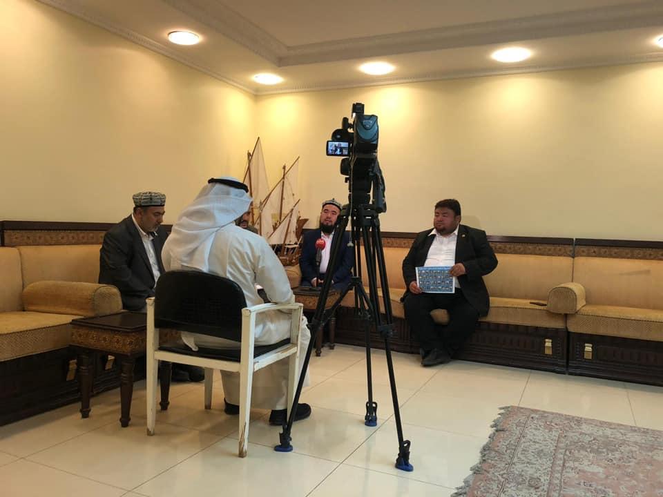 56591972_833515380349433_5696070135731716096_n Doğu Türkistan heyeti Kuveyt'in Al-Rai TV'sine  röportaj verdi