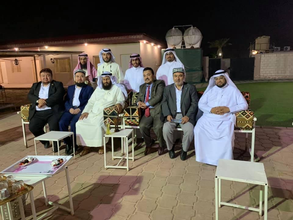 56907811_833509133683391_4764457687318528000_n Doğu Türkistan heyeti  Kuveyt'te son akşam Uluslararası Hak ve Hürriyetler Cemiyeti başkanları ile görüştü