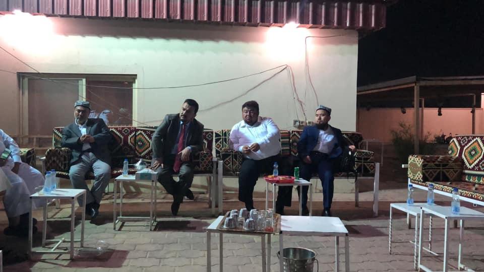 57154939_833509240350047_8468518065565335552_n Doğu Türkistan heyeti  Kuveyt'te son akşam Uluslararası Hak ve Hürriyetler Cemiyeti başkanları ile görüştü