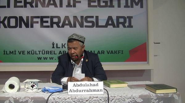 """Abdulahad-A """"Müslümanlar Doğu Türkistan'ın ikinci Endülüs olmasına seyirci mi kalacak!"""""""