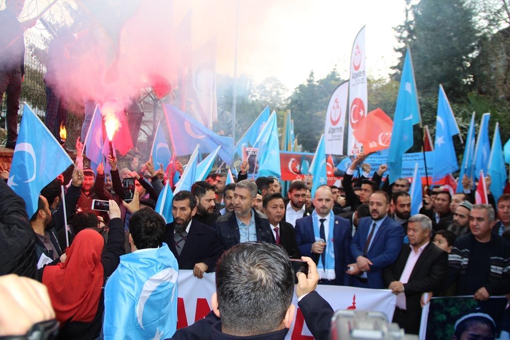 3AEC8C04-34BF-42AD-9186-A6C4BEDA218A Alperen Ocakları Çin'in İstanbul konsolosluğu önünde protesto ve basın açıklaması