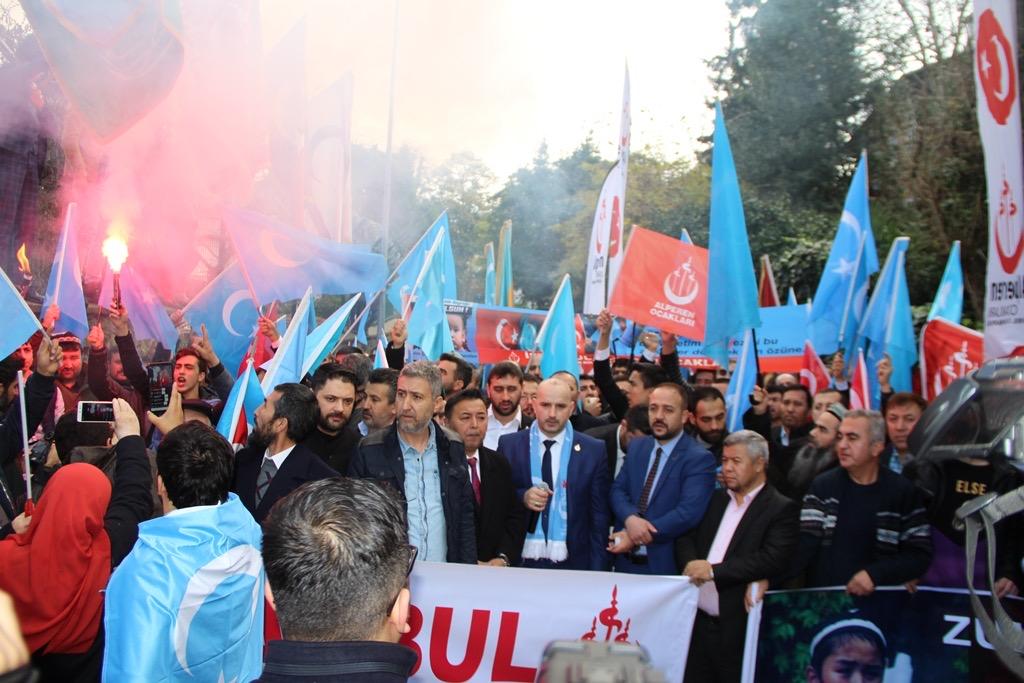 3C558A4E-77B2-4B9E-83BD-E5A0CF2C6543 Alperen Ocakları Çin'in İstanbul konsolosluğu önünde protesto ve basın açıklaması