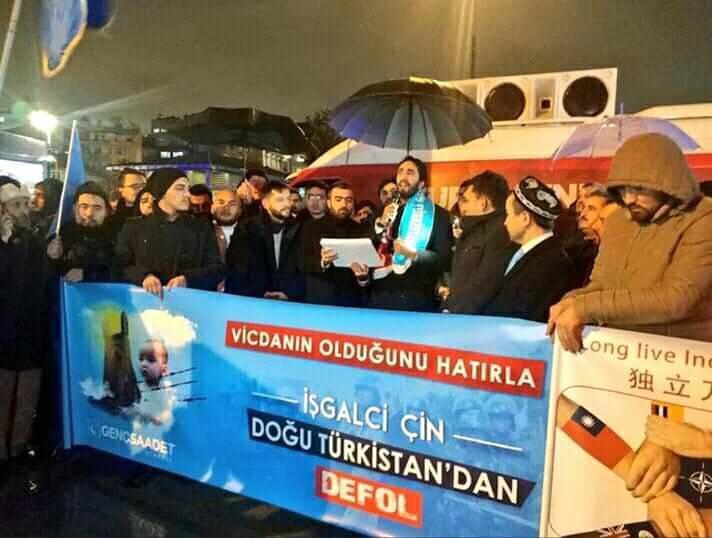 40C48B58-2A28-4AA3-AF0C-94704655652F İstanbulda Doğu Türkistan eylemi