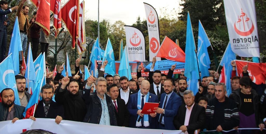 53AB0248-2686-428C-91CB-B3D7D7BDC1F8 Alperen Ocakları Çin'in İstanbul konsolosluğu önünde protesto ve basın açıklaması