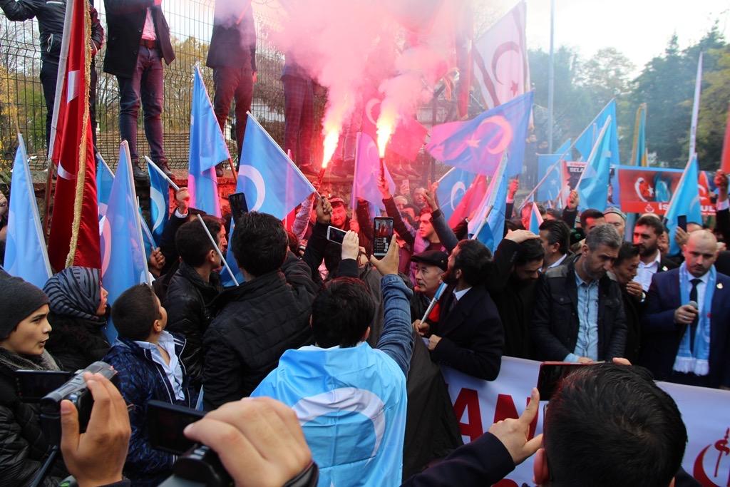 7C336E2B-2783-40E4-A2FC-7B584CAF8E53 Alperen Ocakları Çin'in İstanbul konsolosluğu önünde protesto ve basın açıklaması