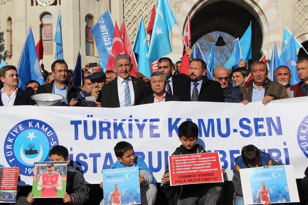 CF4C0A39-B08B-41A9-A2F0-CE4A80F782C8 Türkiye Kamu-Sen İstanbul şubeleri tarafından Doğu Türkistan basın açıklaması