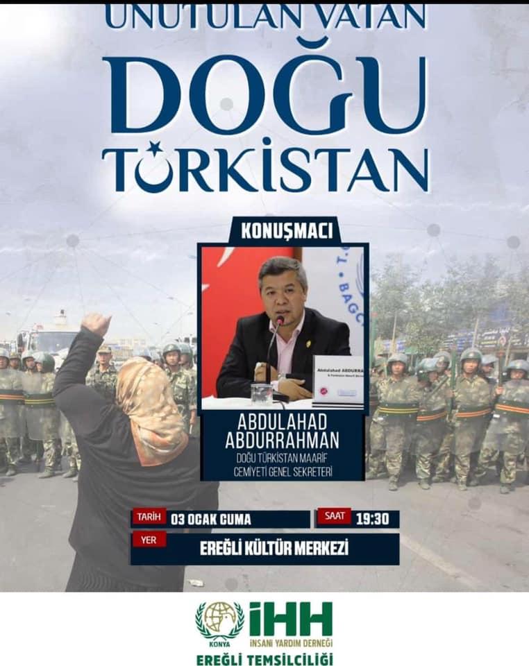 80856965_10220554799158638_5821482463515377664_n Ereğlide unutulan vatan Doğu Türkistan konulu konferans düzenlendi