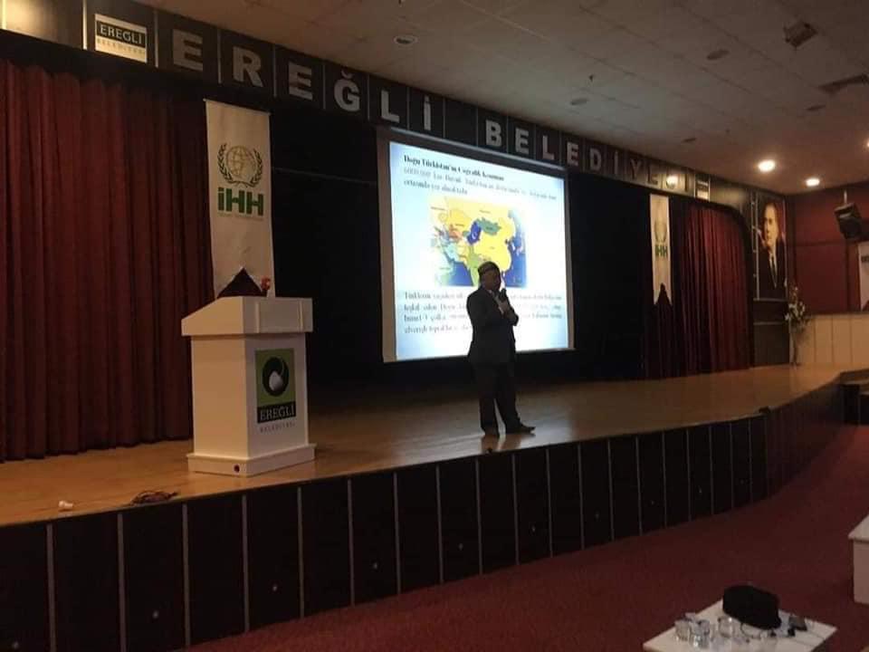 81223052_10220569337122078_219813488451649536_n Ereğlide unutulan vatan Doğu Türkistan konulu konferans düzenlendi