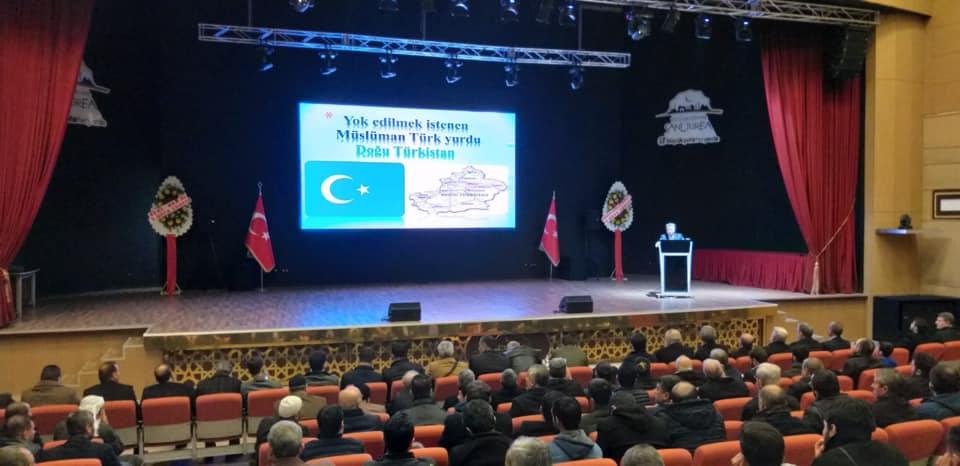 82358248_10220653305541236_4871996036253483008_n-1 Şanlıurfada 'ümmetin uzak yetimleri Doğu Türkistan'da neler oluyor?' Konulu konferans düzenlendi