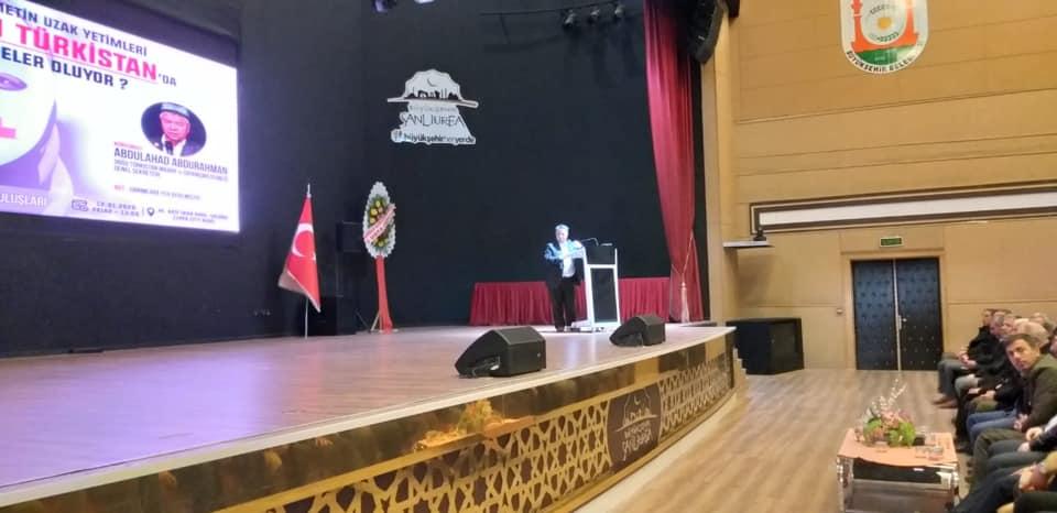 83055613_10220653305621238_6601288859059748864_n Şanlıurfada 'ümmetin uzak yetimleri Doğu Türkistan'da neler oluyor?' Konulu konferans düzenlendi