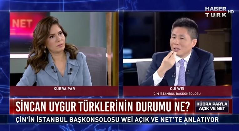 haberturk Çin İstanbul Başkonsolosunun Hezeyan ve Pişkinlik içinde söyledikleri yalan safsatalarına cevab