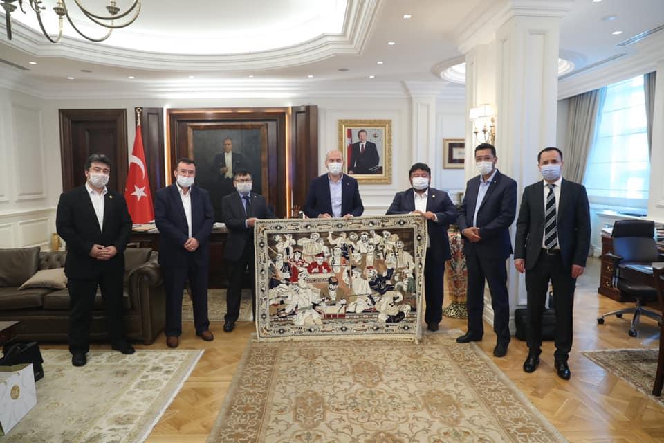 117315618_1196288554072112_6790601293078514892_n Doğu Türkistan Heyeti İçişleri bakanı ziyaret etti