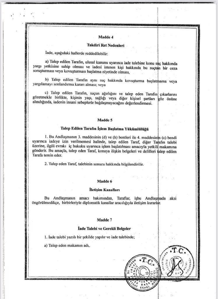 anlasma1 Türkiye, Uygur Türklerini iade etmiyor! Anlaşmanın maddeleri ortaya çıktı
