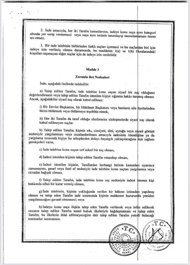 anlasma2 Türkiye, Uygur Türklerini iade etmiyor! Anlaşmanın maddeleri ortaya çıktı