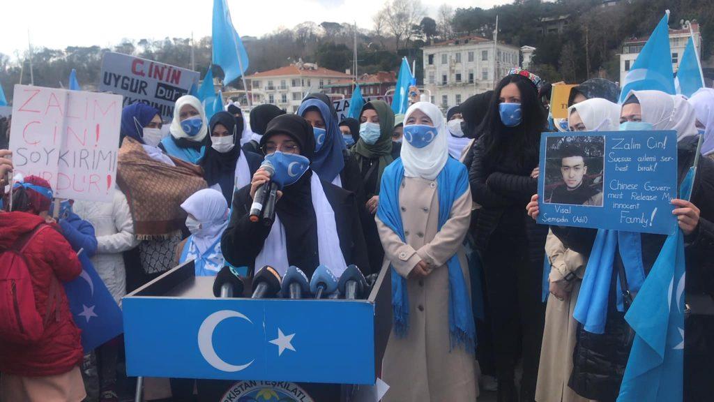 158721818_3778181908916372_6740040048159696429_o-1024x576 Doğu Türkistan'da kadın olmak konulu Protesto ve Basın açıklaması gerçekleşti
