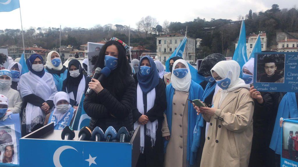 158733063_3778181565583073_6268505183323211851_o-1024x576 Doğu Türkistan'da kadın olmak konulu Protesto ve Basın açıklaması gerçekleşti