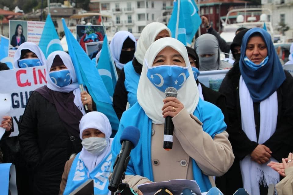 158846832_3807161495985509_3297285887334770822_n-1 Doğu Türkistan'da kadın olmak konulu Protesto ve Basın açıklaması gerçekleşti